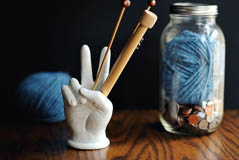 Wool, Needles, Hands